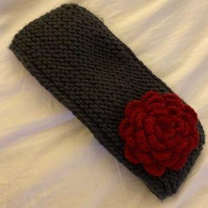 Flower fleece headband